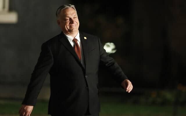 ראש ממשלת הונגריה ויקטור אורבן (צילום: AP Photo/Frank Augstein)