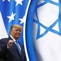 דונלד טראמפ בכנס השנתי של ה-IAC, ב-7 בדצמבר 2019 (צילום: AP Photo/Patrick Semansky)