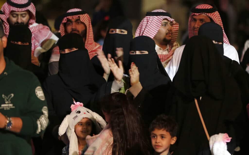 קהל מעורב באירוע תרבות בסעודיה (צילום: AP Photo/Amr Nabil)