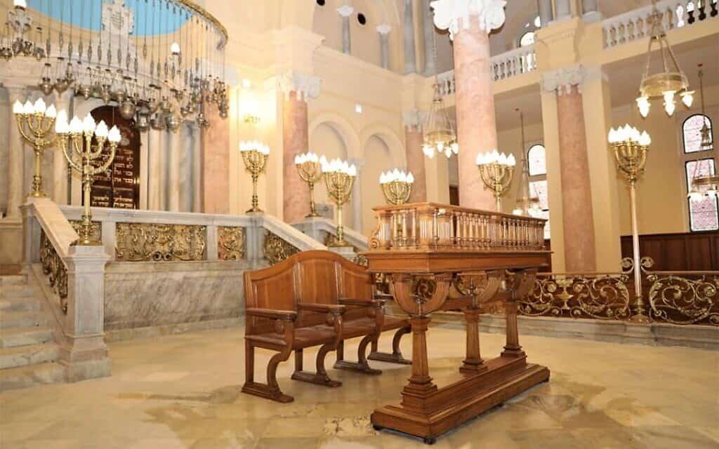 בית הכנסת אליהו הנביא ב-20 בדצמבר, 2019 (צילום: משרד העתיקות המצרי)