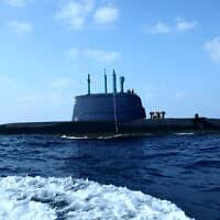 צוללת חיל הים דולפין, ארכיון, 2009 (צילום: משה שי, פלאש 90)