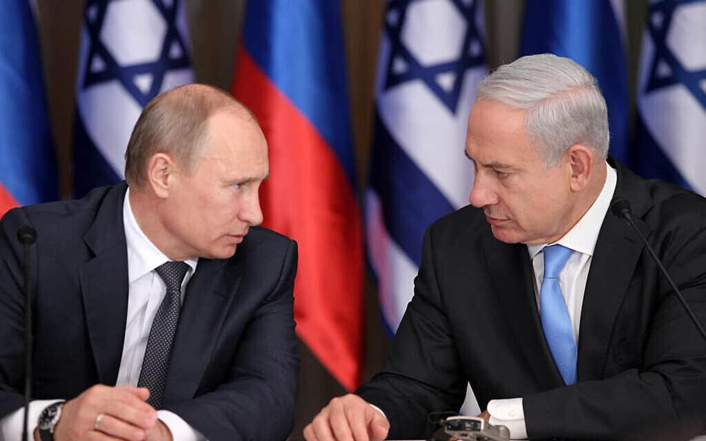 ולדימיר פוטין ובנימין נתניהו (צילום: Marc Israel Sellem/POOL/FLASH90)