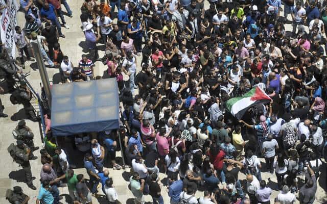 הפגנות למען תושבי שפרעם שחיסלו את החייל שביצע לינץ' בעיר, ארכיון (צילום: Moran Mayan / POOL MAARIV / FLASH90)