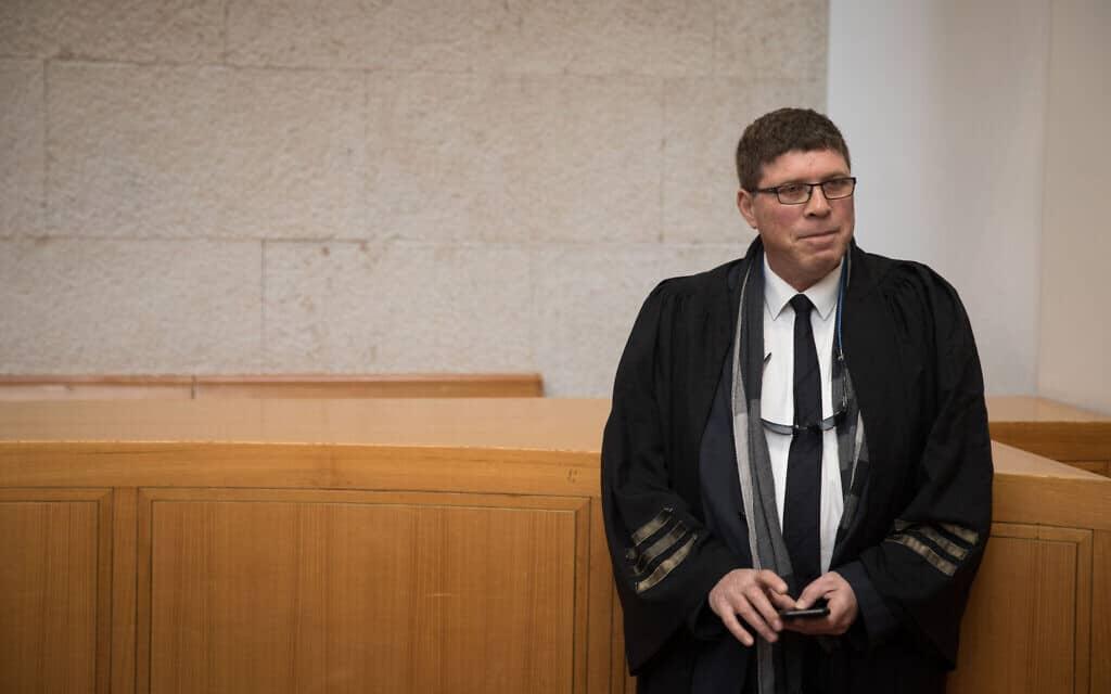 עו״ד שחר בן מאיר בבית המשפט העליון, 2017 (צילום: הדס פרוש/פלאש90)