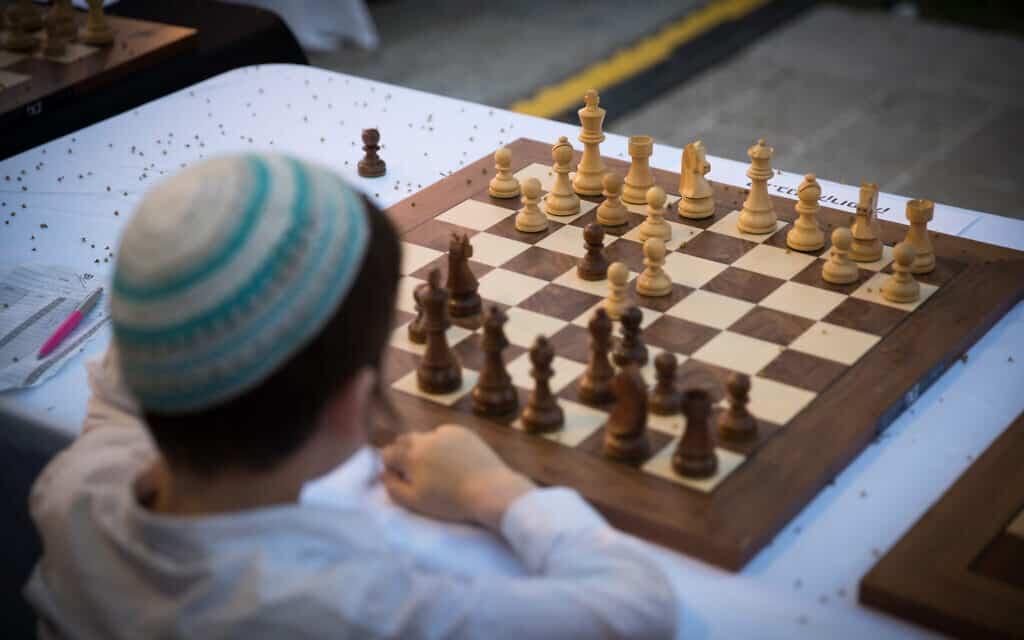 משחק שח בירושלים, ארכיון (צילום: Yonatan Sindel/Flash90)