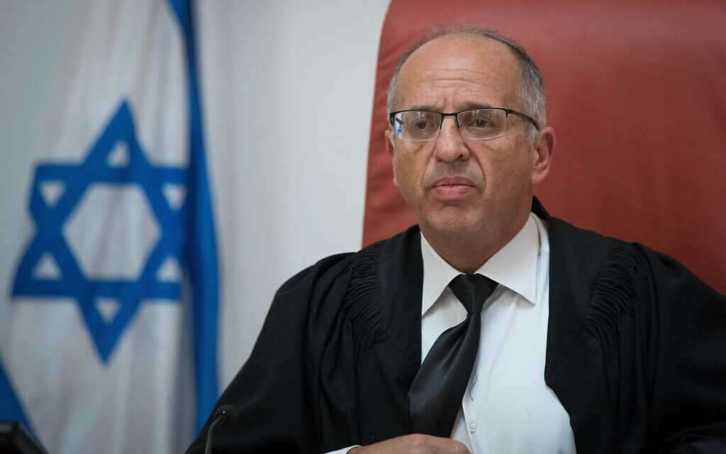 שופט בית המשפט העליון נעם סולברג (צילום: יונתן סינדל/פלאש90)