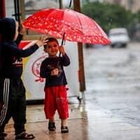 גשם ברצועת עזה, אוקטובר 2019 (צילום: Abed Rahim Khatib/Flash90)