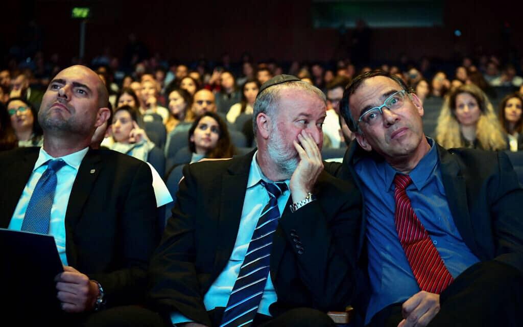 שי ניצן, אביחי מנדלבליט ואמיר אוחנה (צילום: פלאש90)