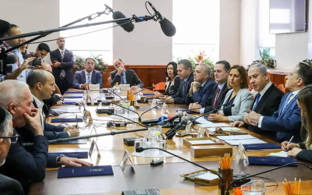 ישיבת הממשלה השבועית, הבוקר (צילום: מרק ישראל סלם, פלאש 90)