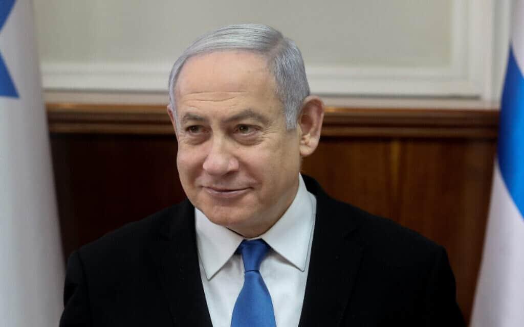 ראש הממשלה נתניהו, הבוקר בישיבת הממשלה (צילום: מרק ישראל סלם, פלאש 90)