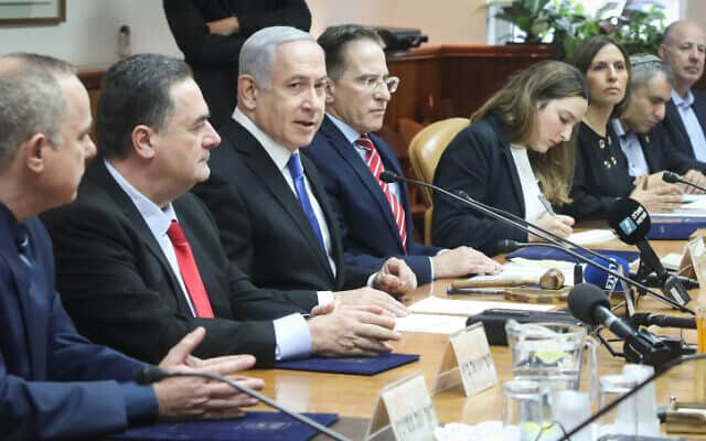 ישיבת הממשלה בראשות נתניהו (צילום: מרק ישראל סלם, פלאש 90)