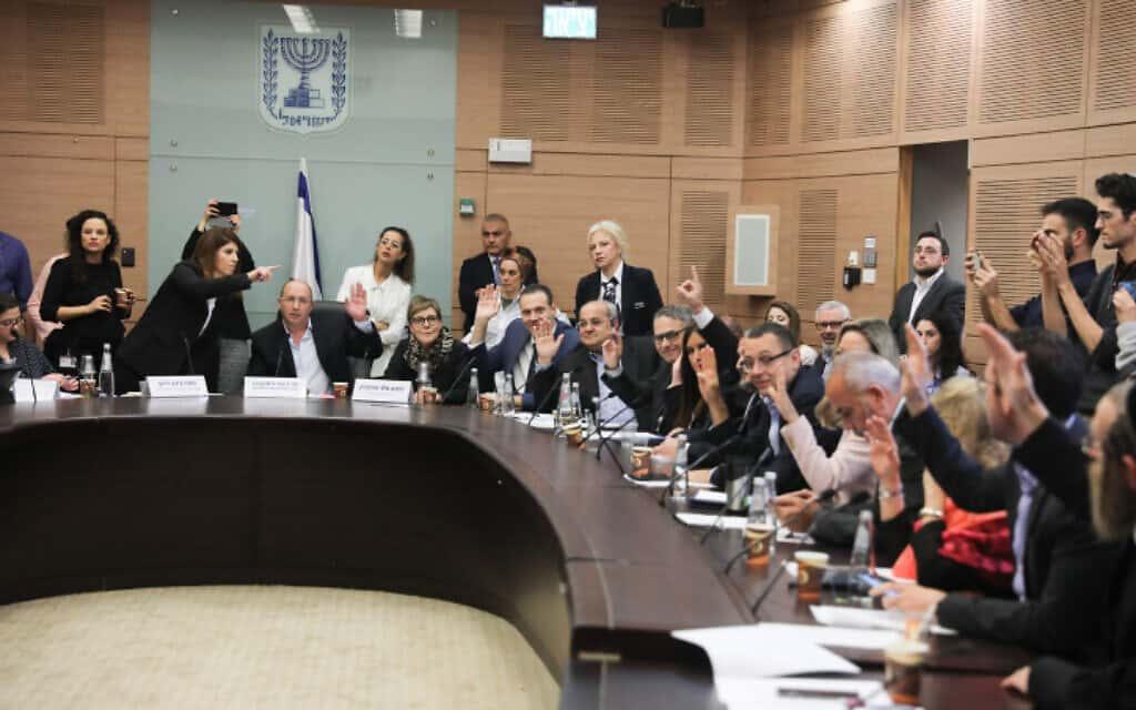 הוועדה המסדרת מצביעה על פיזור הכנסת (צילום: יונתן זינדל, פלאש 90)