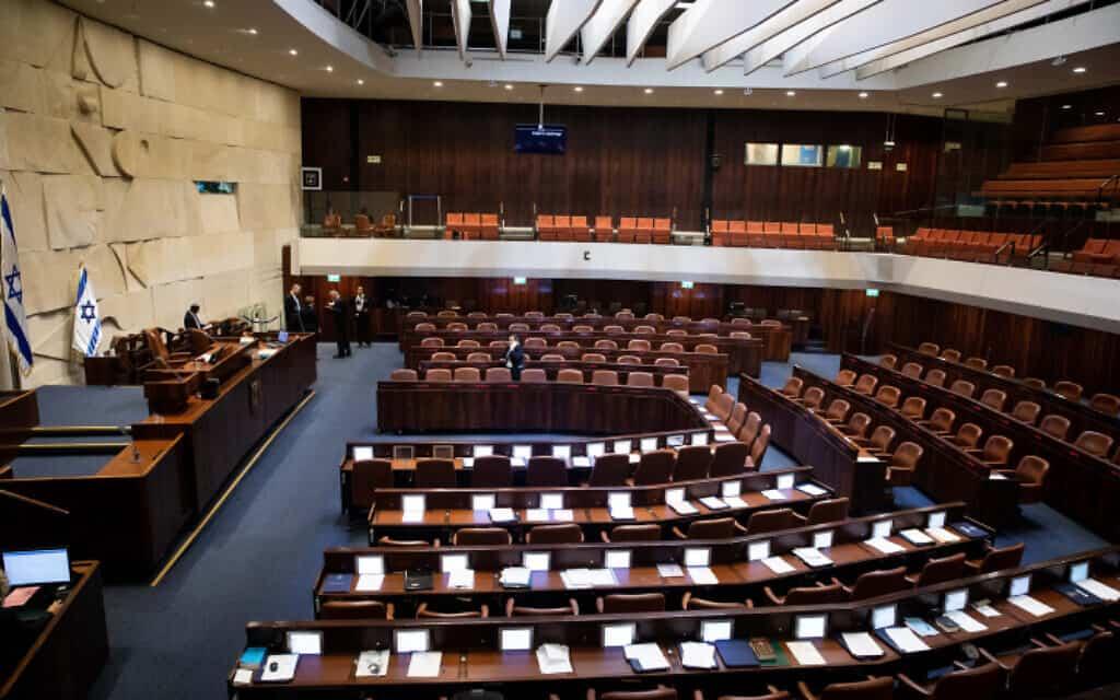 מליאת הכנסת, ביום פיזור הכנסת 11 בדצמבר 2019 (צילום: Flash90/יונתן זינדל)