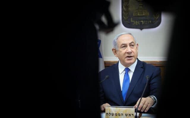 נתניהו בישיבת הממשלה, אתמול (צילום: מרק ישראל סלם, פלאש 90)