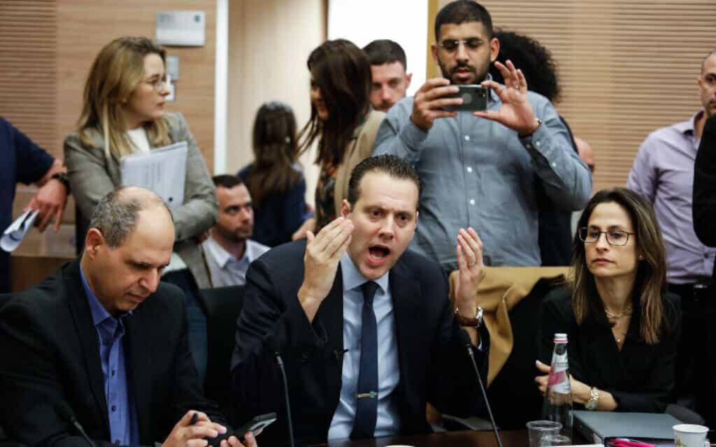 מיקי זוהר בישיבה של ועדת הכספים בכנסת, היום (צילום: אוליבייה פיטוסי, פלאש 90)