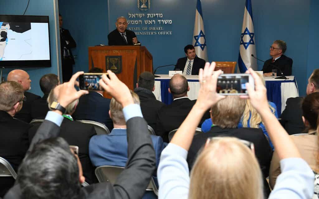 """נתניהו במפגש עם משלחת נוצרים פרלמנטריים מטעם The Israel Allies Foundation – IAF (צילום: עמוס בן גרשום/לע""""מ)"""