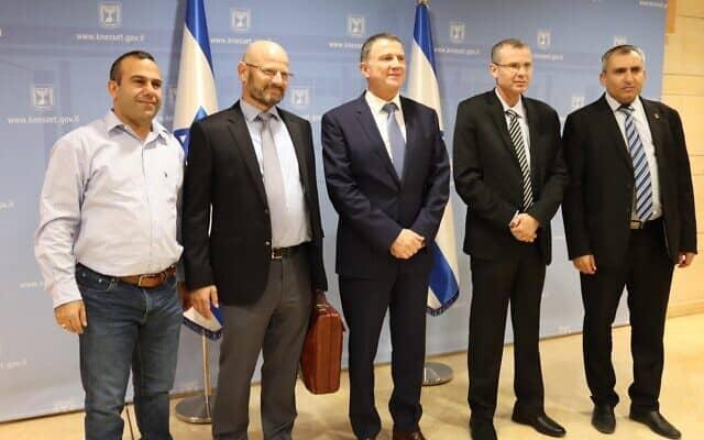 פגישת צוות המשא ומתן של הליכוד וכחול לבן בתיווך יולי אדלשטיין, 1 בדצמבר 2019