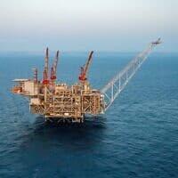 אסדת הגז הטבעי לווייתן לחופי ישראל (צילום: Albatross)