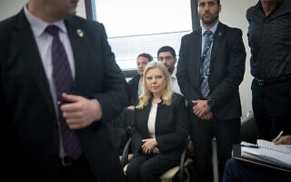 שרה נתניהו בדיון בבית הדין לעבודה (צילום: Yonatan Sindel/Flash90)