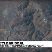 כור העשרת האורניום בכור האירני פורדו. צילום מסך מ-France 24