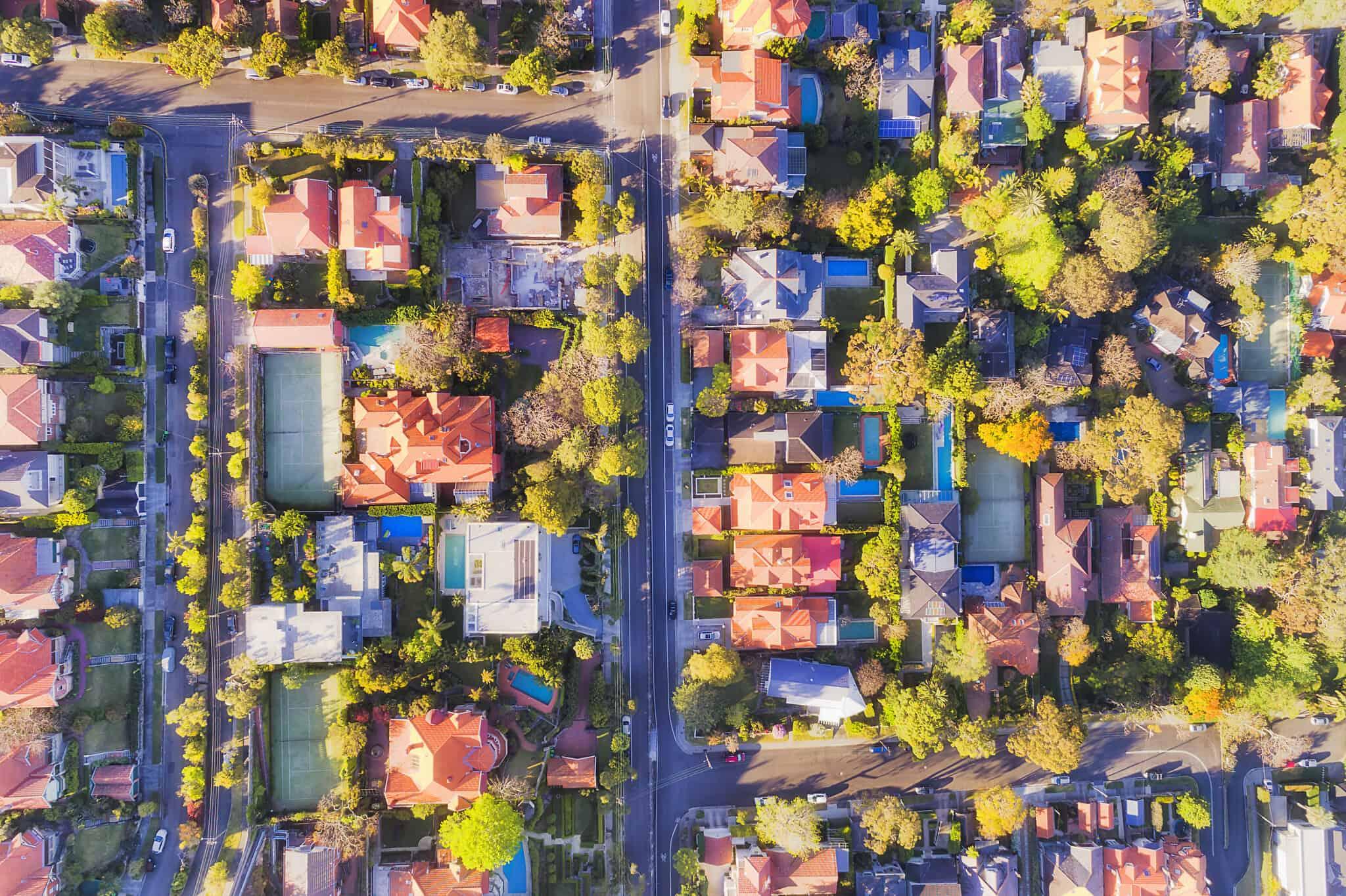D Mosman Streets Top down (צילום: zetter/iStock)