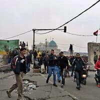 זירת הירי בבגדד שבעירק, היום (צילום: Hadi Mizban, AP)