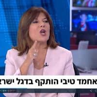 """צילום מסך מתוך ראיון של אחמד טיבי ב""""פגוש את העיתונות"""""""