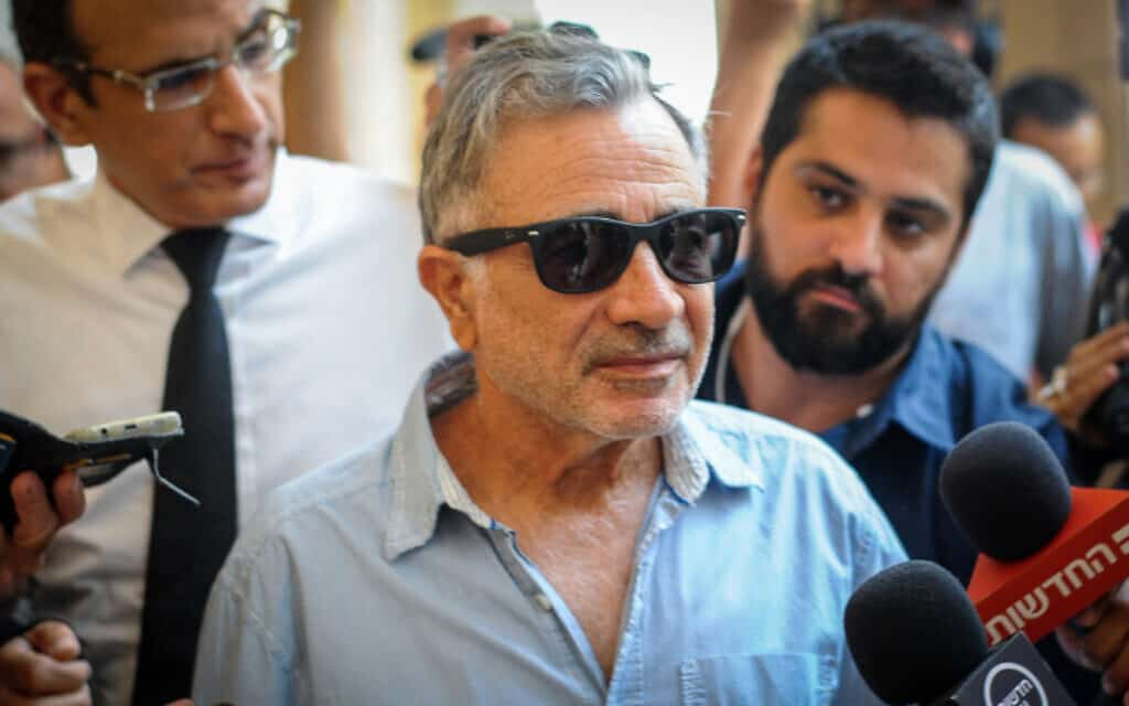 משה איבגי בבית המשפט המחוזי בחיפה, 2018 (צילום: מאיר ועקנין, פלאש 90)