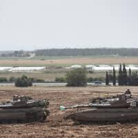 """טנקים צה""""ליים (צילום: אהרון קרון, פלאש 90)"""
