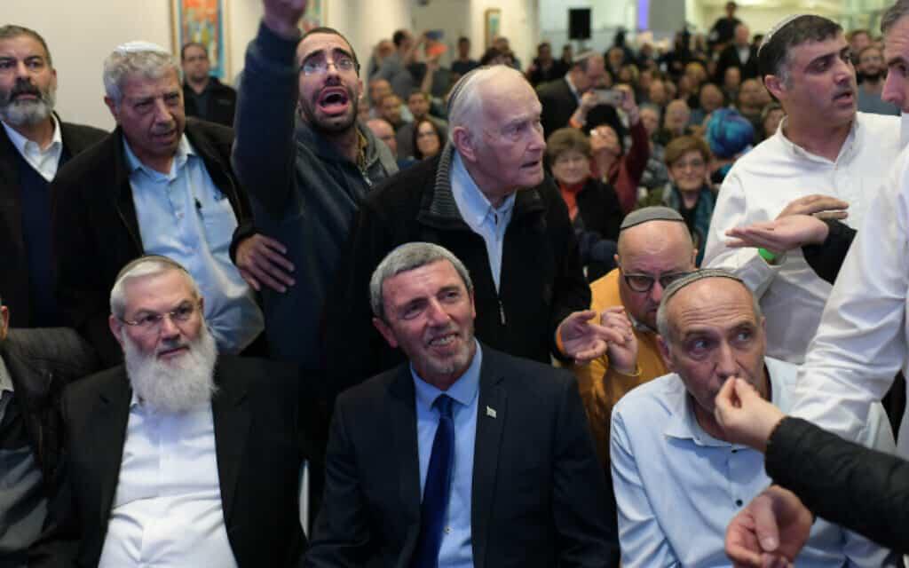 הבית היהודי בכינוס בתל אביב, שבו אושר המיזוג עם עוצמה יהודית (צילום: גיל יערי / פלאש 90)