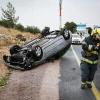 תאונת דרכים (צילום: דייויד כהן / פלאש 90)