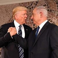 בנימין נתניהו ודונלד טראמפ ב-2017 (צילום: US Embassy Jerusalem)