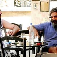 דיון בפילוסופיה יוונית (צילום: דן פרי)