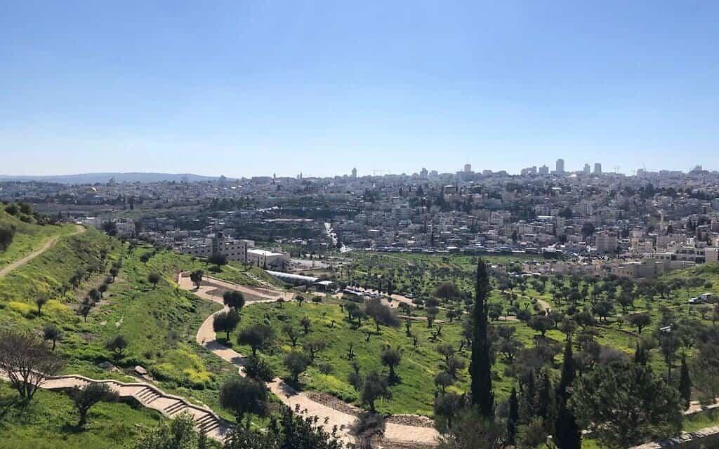 נוף ירושלים מעמק צורים (צילום: מתן רדנר)