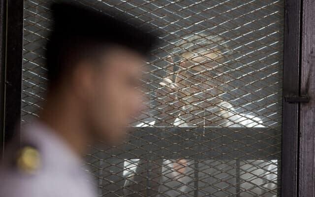צלם עיתונות שנכלא במצרים לאחר שתיעד הפגנות נגד המשטר, ארכיון (צילום: AP Photo/Amr Nabil)