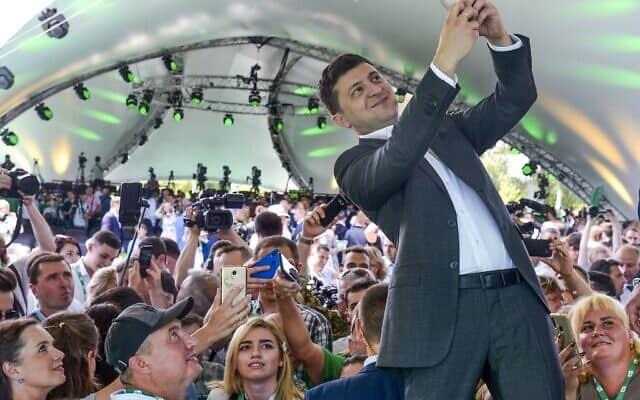 ולדימיר זלנסקי (צילום: AP Photo/Zoya Shu)