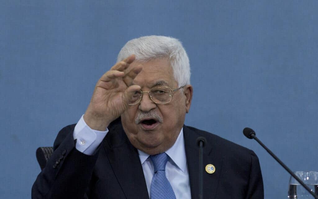 """יו""""ר הרשות הפלסטינית מחמוד עבאס (אבו מאזן) (צילום: AP Photo/Nasser Nasser)"""