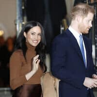 מייגן והנסיך הארי השבוע בלונדון. 7 בינואר 2020 (צילום: AP Photo/Frank Augstein)