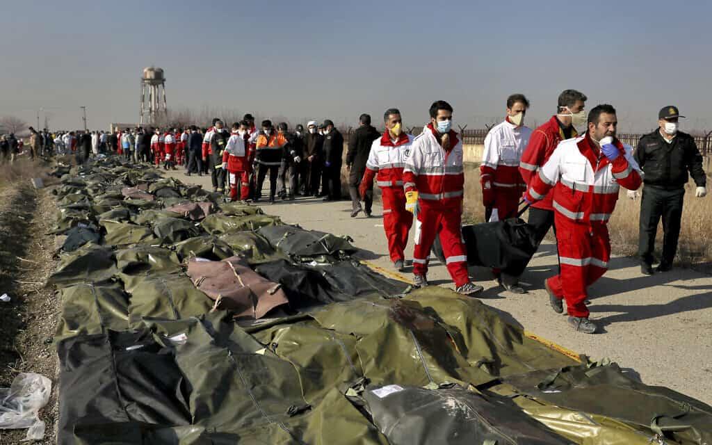 שדה הקטל בקרבת טהרן: מקום התרסקות המטוס האוקראיני שיורט על ידי איראן ב-8 בינואר 2020 (צילום: (AP Photo/Ebrahim Noroozi)