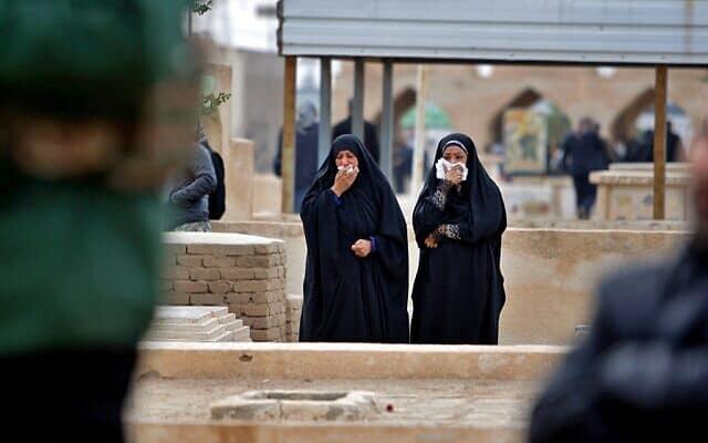 הלווייתו של בכיר איראני שנהרג בתקיפה האמריקאית בעיראק (צילום: AP Photo/Anmar Khalil)