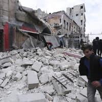 אידליב, 15 בינואר 2020 (צילום: Ghaith Alsayed, AP)