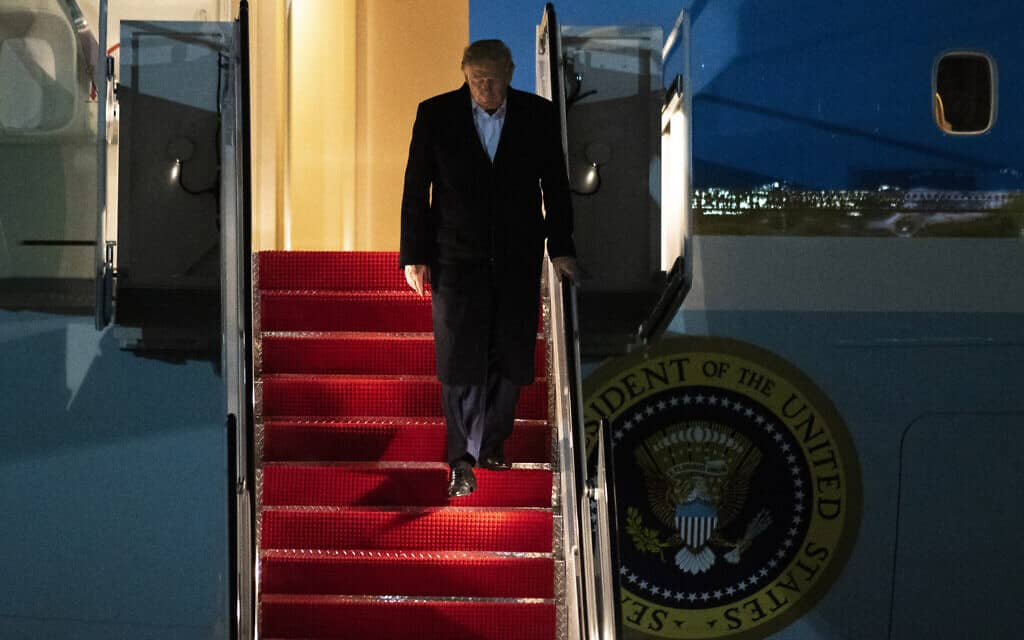 דונלד טראמפ, 31 בינואר 2020 (צילום: AP Photo/Kevin Wolf)