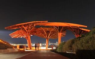 מבט על תל אביב מפארק אריאל שרון (צילום: Dror Garti/FLASH90)