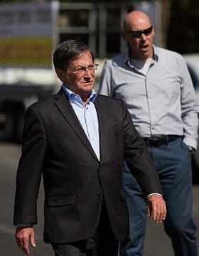 ראש עיריית נהריה דאז, ז'קי סבג ב-2015 (צילום: יונתן סינדל/פלאש90)