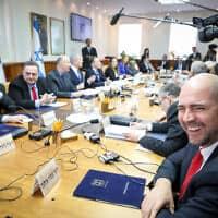 ישיבת הממשלה, דצמבר 2019 (צילום: Marc Israel Sellem/POOL)