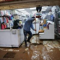 נזקי מזג האויר בנהריה (צילום: David Cohen/Flash90)