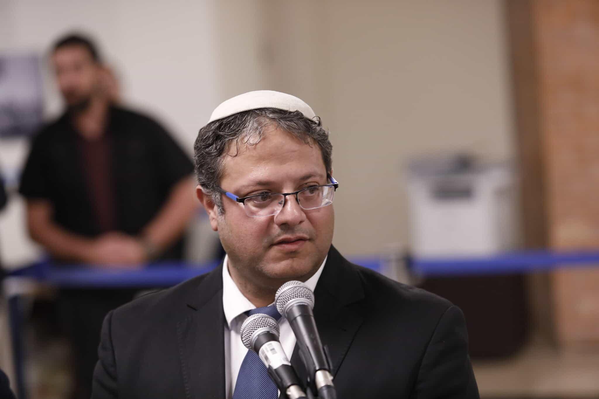 איתמר בן-גביר מגיש את רשימת עוצמה יהודית לכנסת ה-23 (צילום: Olivier Fitoussi/Flash90)