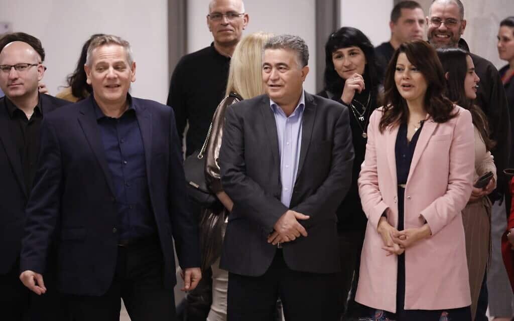 העבודה-גשר-מרצ מגישים את רשימת המועמדים שלהם לכנסת ה-23 (צילום: Olivier Fitoussi/Flash90)