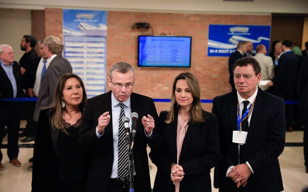 הליכוד מגישים את רשימת המועמדים שלהם לכנסת ה-23 (צילום: Olivier Fitoussi/Flash90)