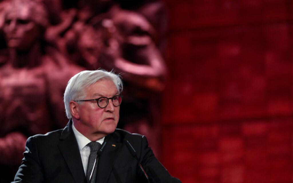 נשיא גרמניה שטנמאייר בפורום השואה העולמי ביד ושם, היום (צילום: יונתן זינדל, פלאש 90)